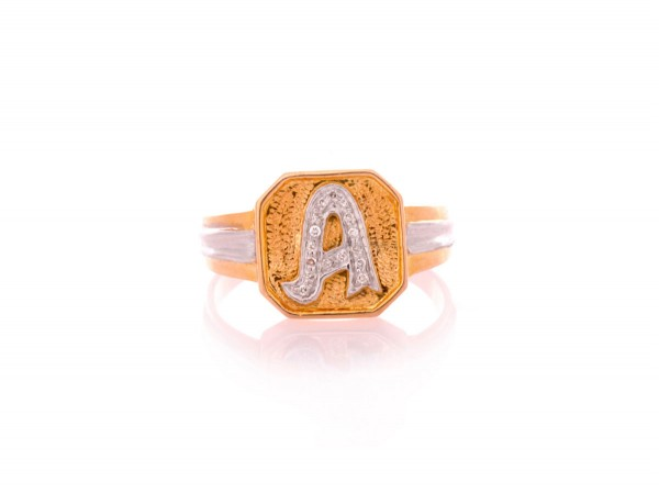 Alphabet Gents Ring