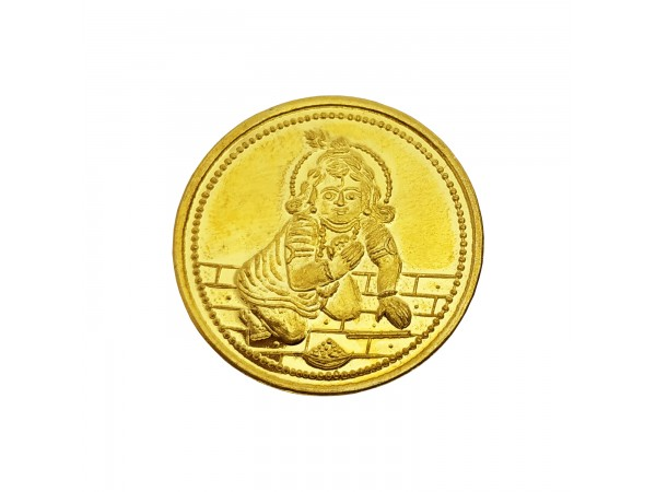 2 gm laddu gopal coin 24k