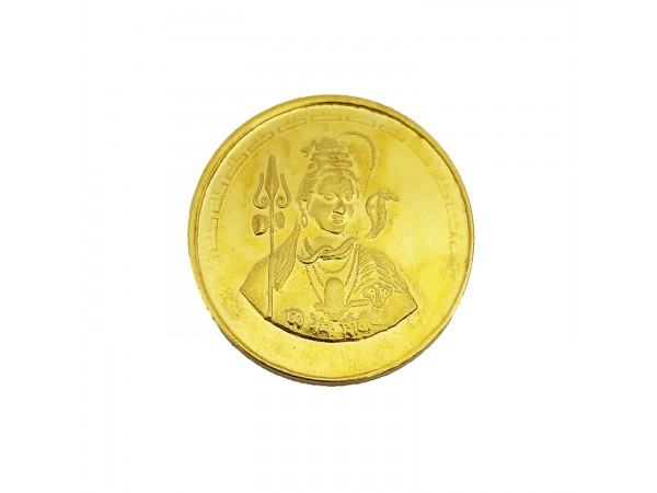2 Gm Shiva Coin 24k