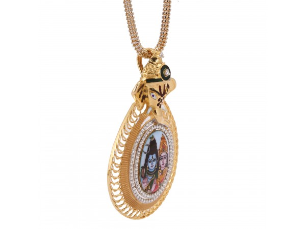 The Shiva And Durga Diamond Pendent