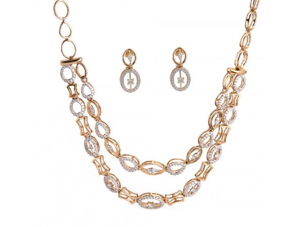 The Joyceline Diamond Necklace Set