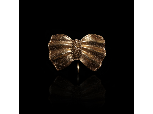 The Edna Gold Bow Tie