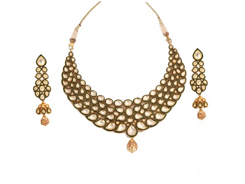 Alyza Pearls Gold Necklace Set