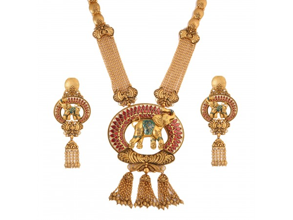 The Pride Gold Elephant Necklace Set