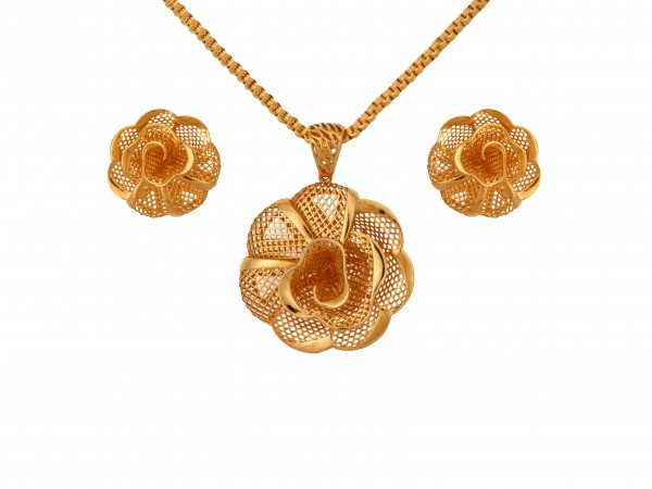 The Mena Gold Locket Set